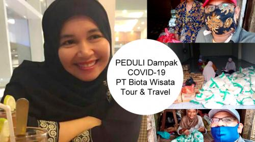PT. Biota Wisata Tour & Travel  Pusat Makassar, Berbagi Sembako Wujud Nyata Peduli Dampak Virus Corona (COVID-19) di Kabupaten Muna Sulawesi Tenggara.