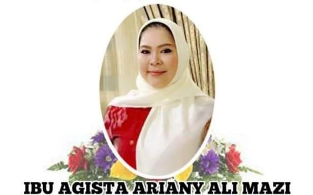 Ibu Agista Ariayani: Istri Gubernur Sultra Meninggal