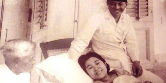 Potret Lawas Fatmawati Usai Melahirkan Megawati, Didampingi Langsung Bung Karno